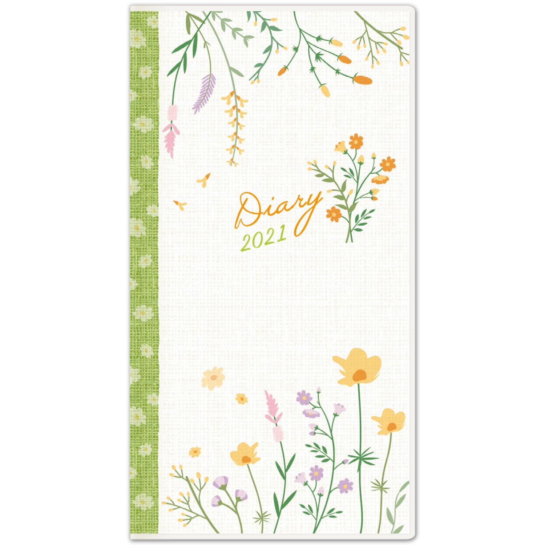 2021年 ダイアリー SS シンプルフラワー 可憐な花 緑帯|dy-26