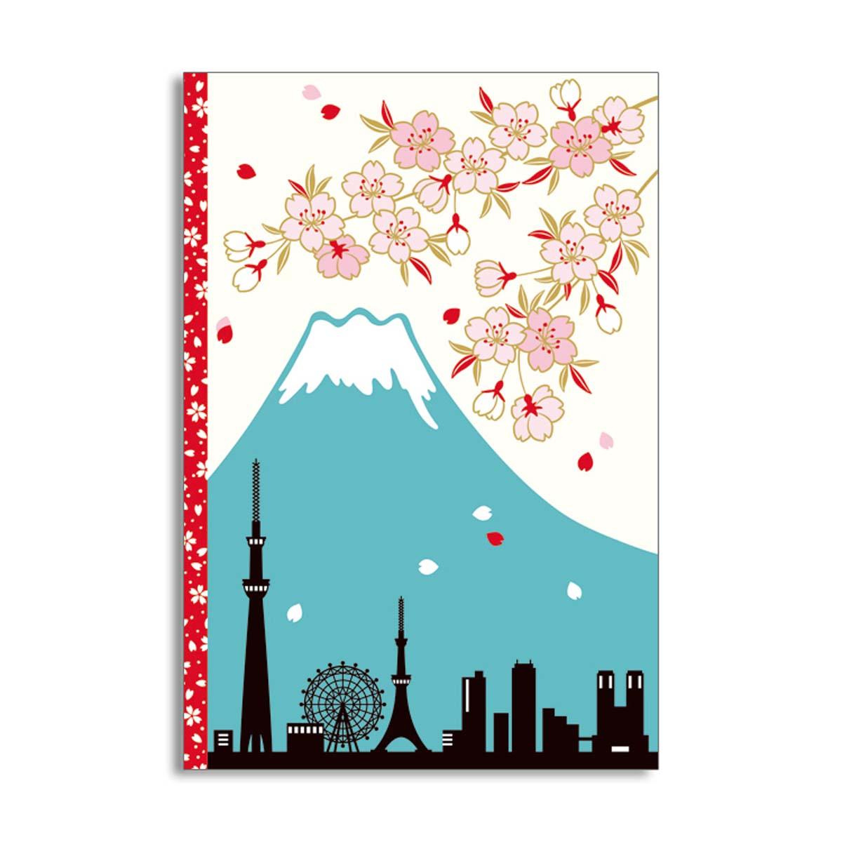 クリアフォトフォルダーカード 富士山とサクラ|jxcd-101