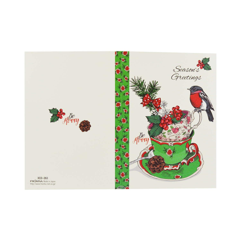 クリスマスカード ティーカップ|xcd-263