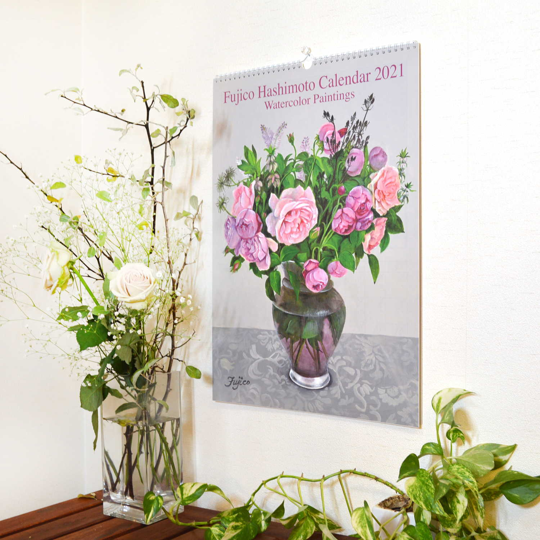 2021年 カレンダー LL 橋本不二子 Roses ローズ|cal-09