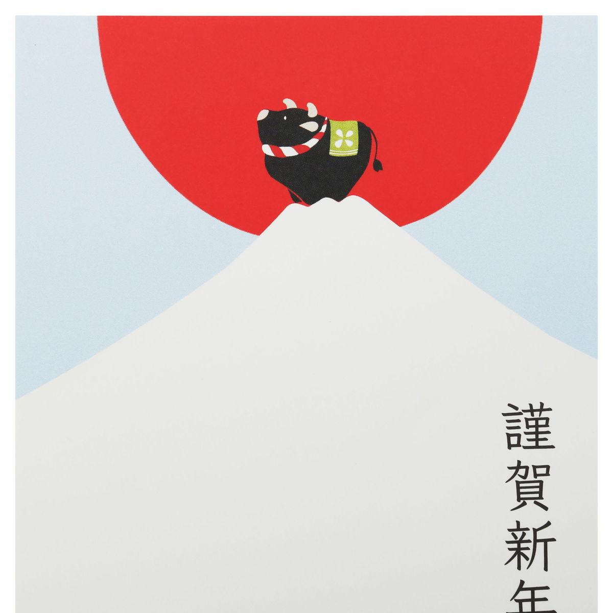年賀はがき 富士山登頂|fpc-551