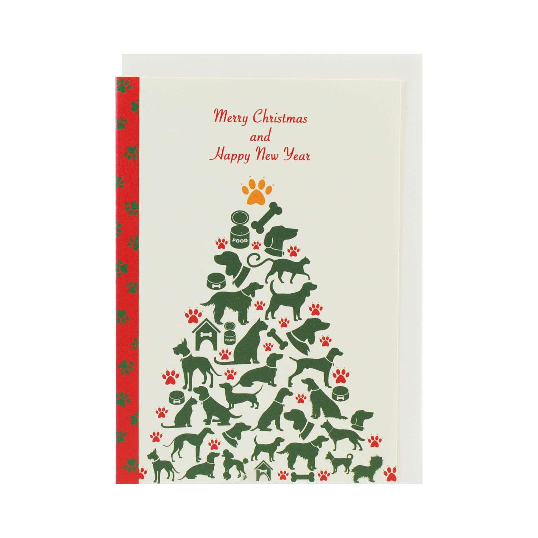 クリスマスカード ワンニャンツリー|xcd-270