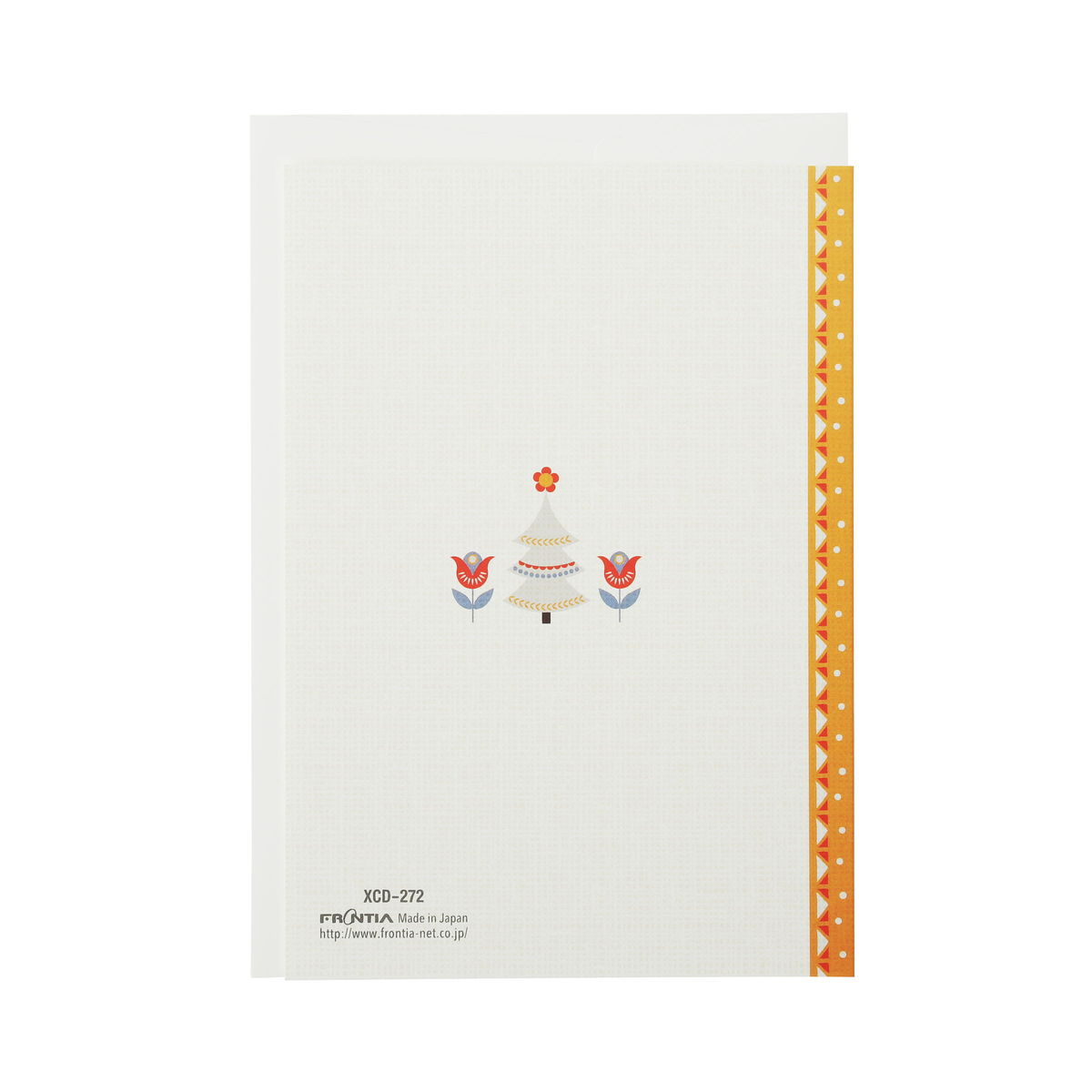クリスマスカード クラシック 北欧クリスマスカード黄帯|xcd-272