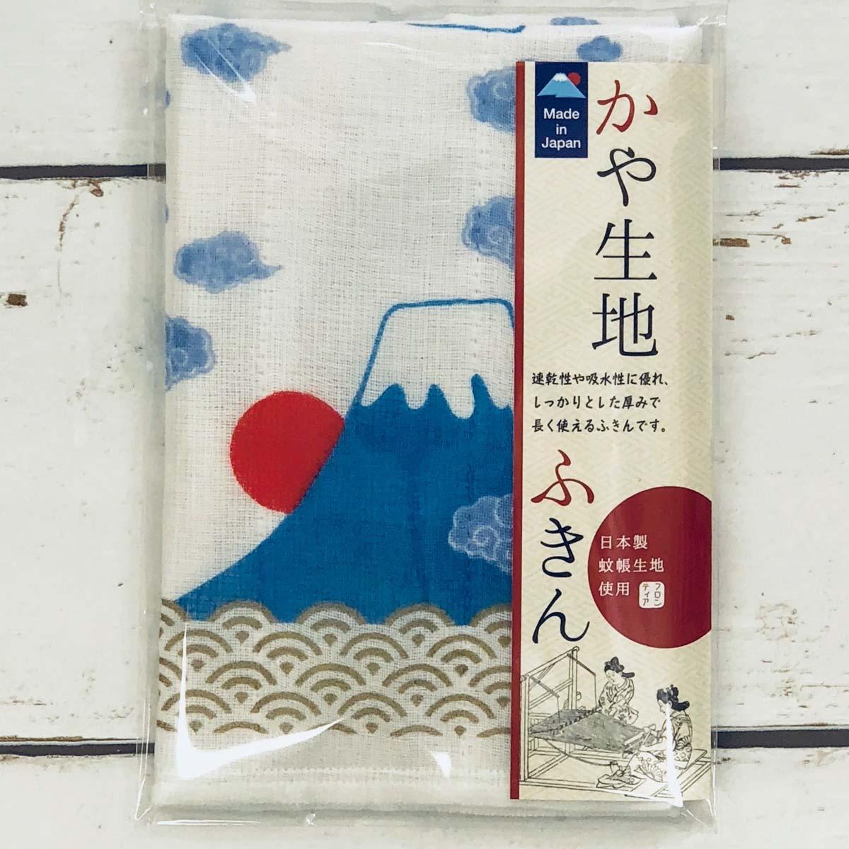 かや生地ふきん 4小間 富士山|fkn-004