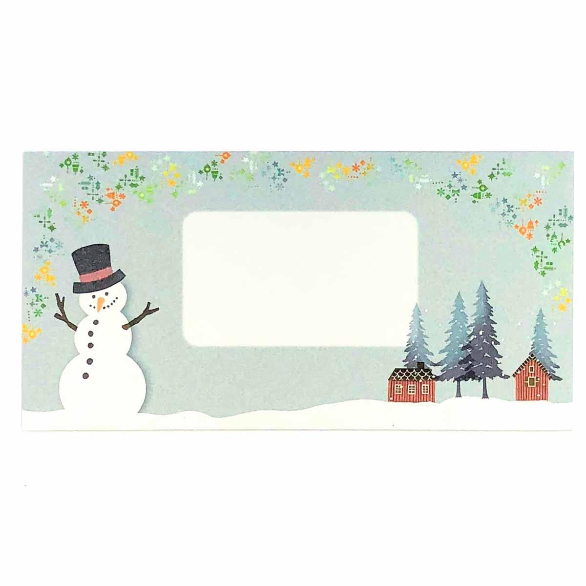 封筒 雪だるま|ev-537