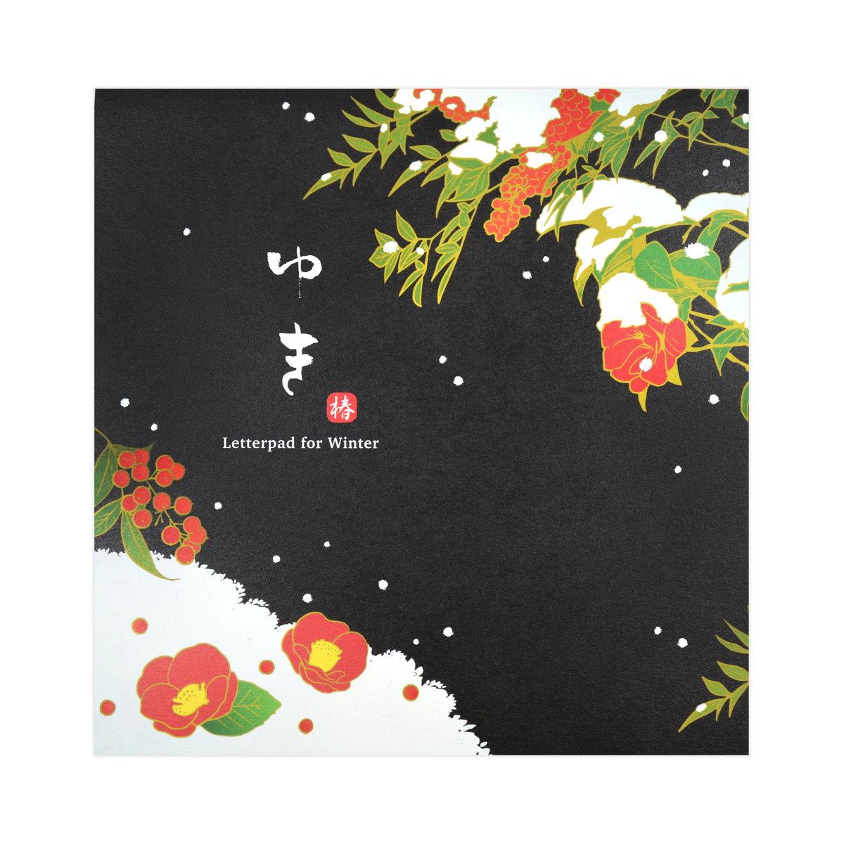 便箋 雪と椿|pd-572
