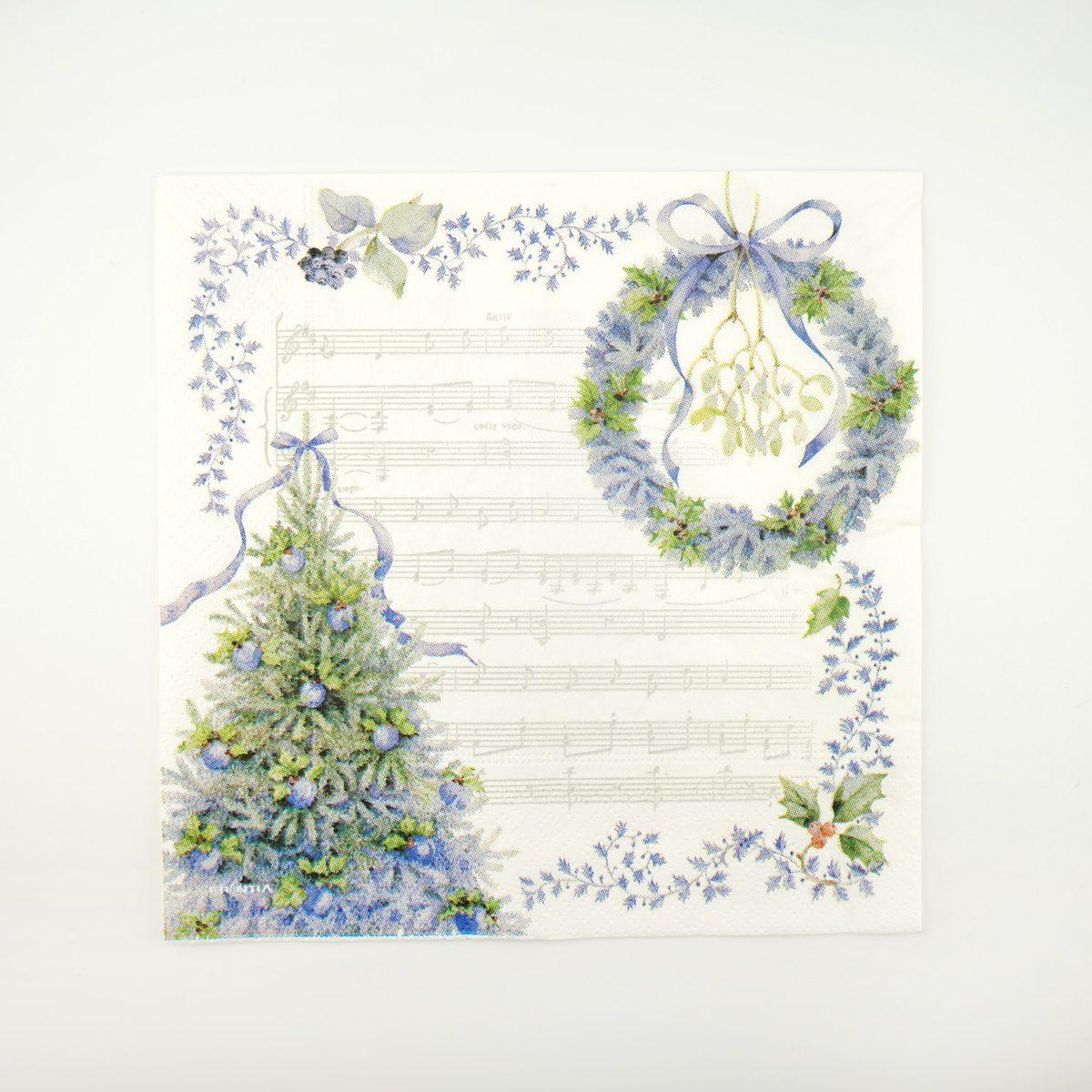 ペーパーナプキン ブルークリスマス|pnk-032