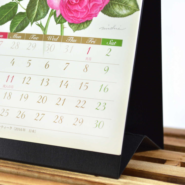 2021年 カレンダー ML 卓上縦1ヶ月 ローズ|cal-34