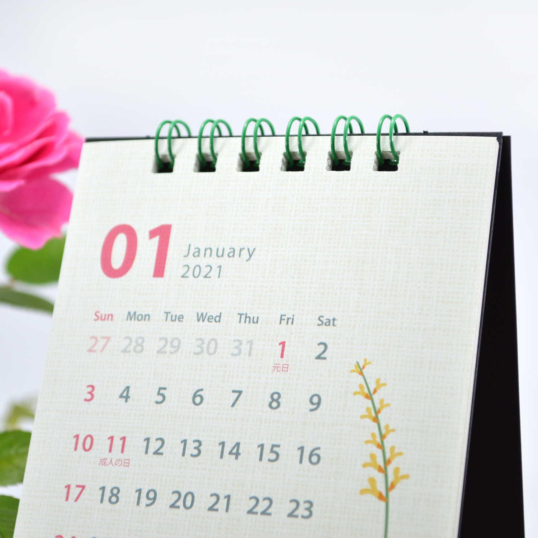 2021年 カレンダー ML 卓上縦1ヶ月 シンプル cal-35