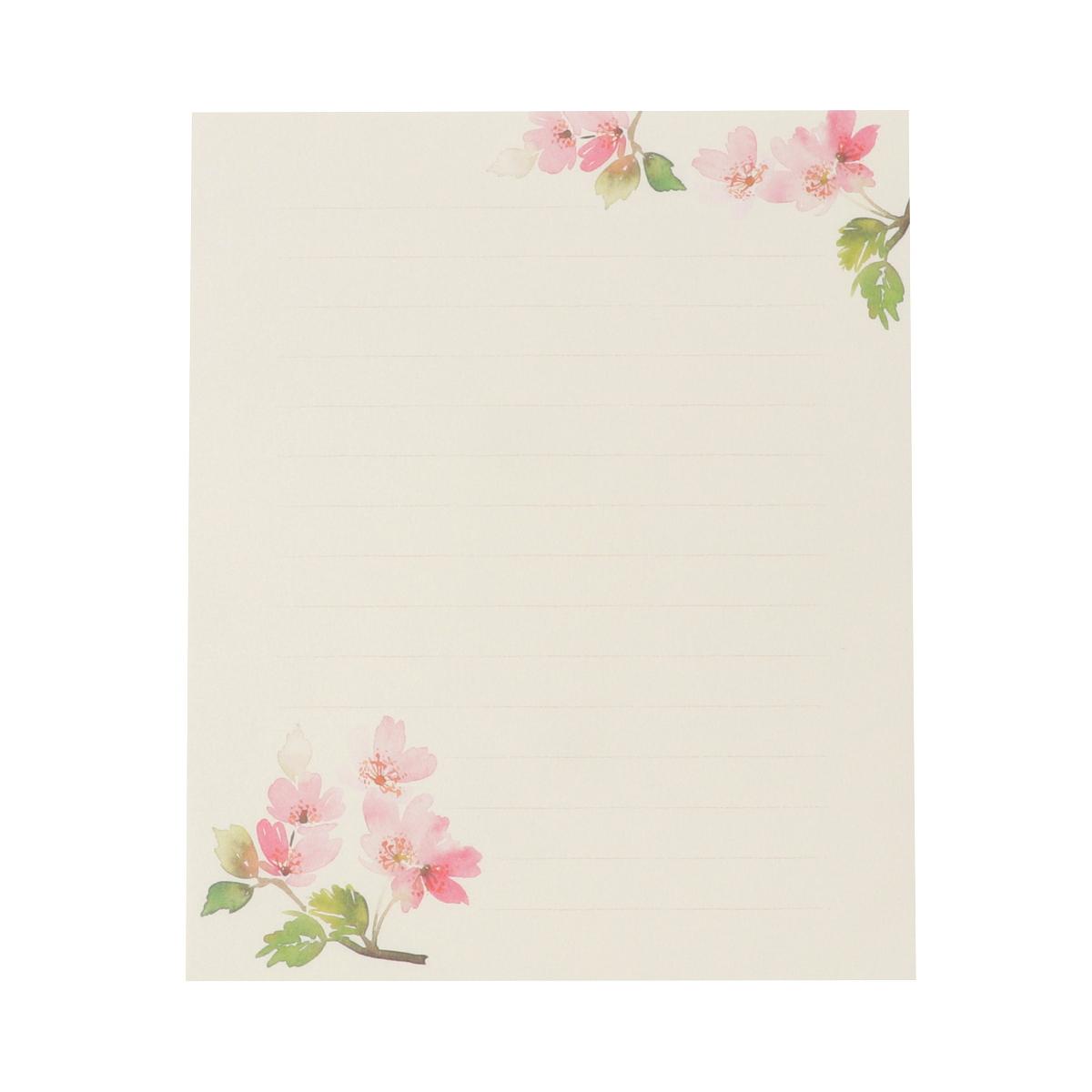 便箋 満開の桜 pd-578