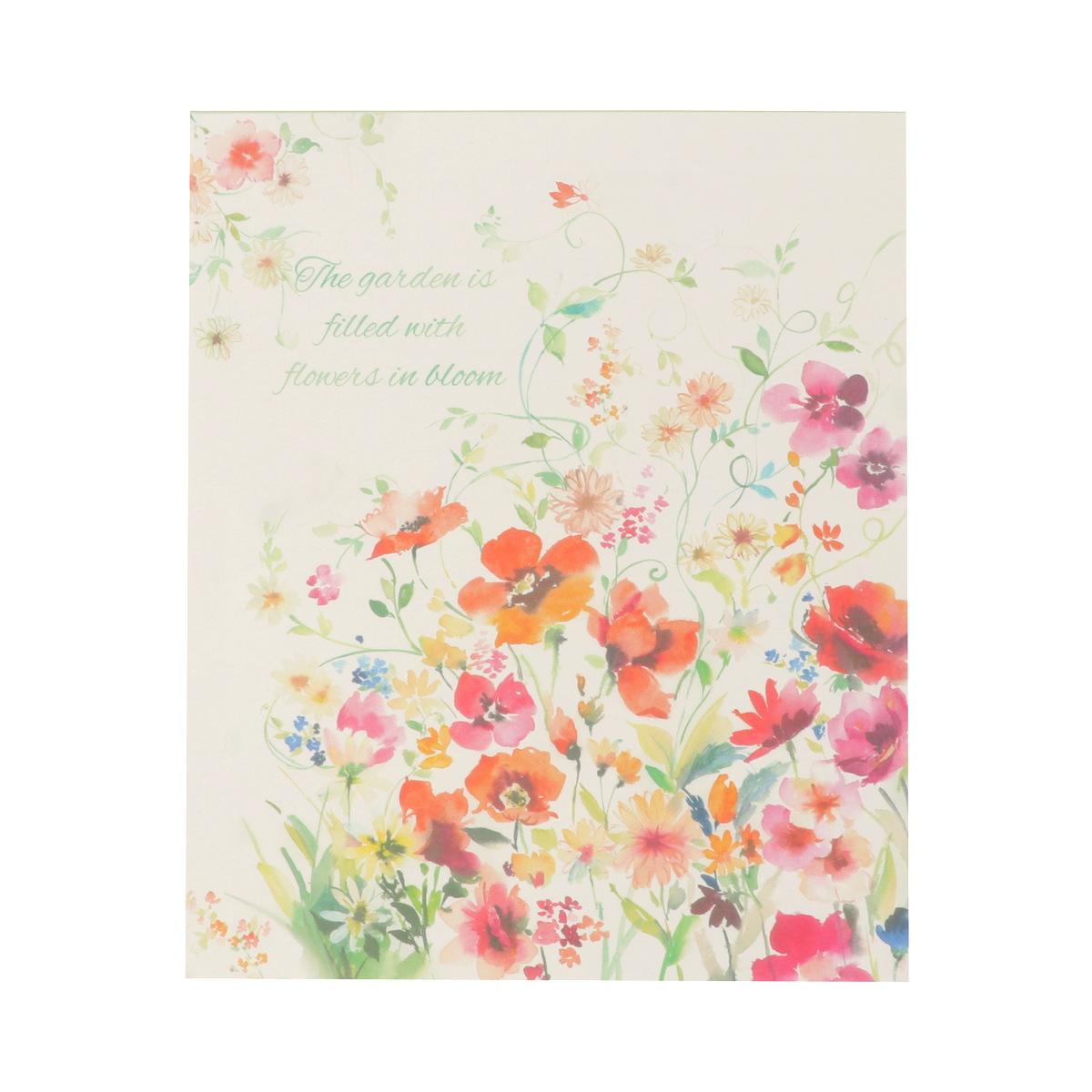 便箋 咲き誇る庭|pd-580