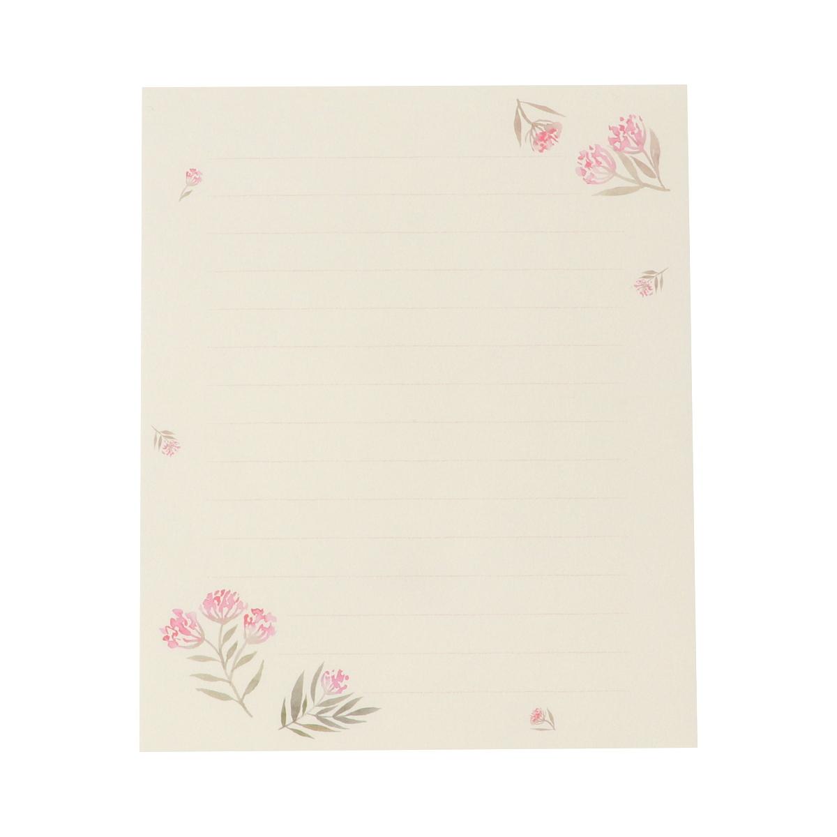 便箋 ピンク小花 pd-581