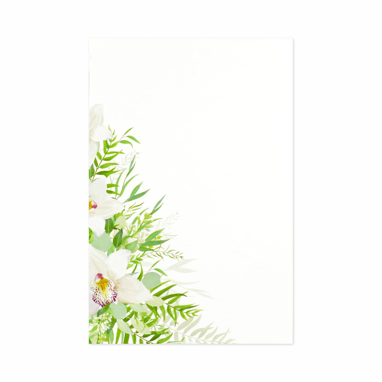 はがき箋 蘭の花束|hgs-392