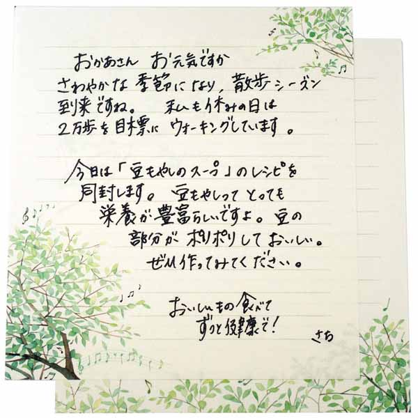 便箋 緑の調べ|pd-514