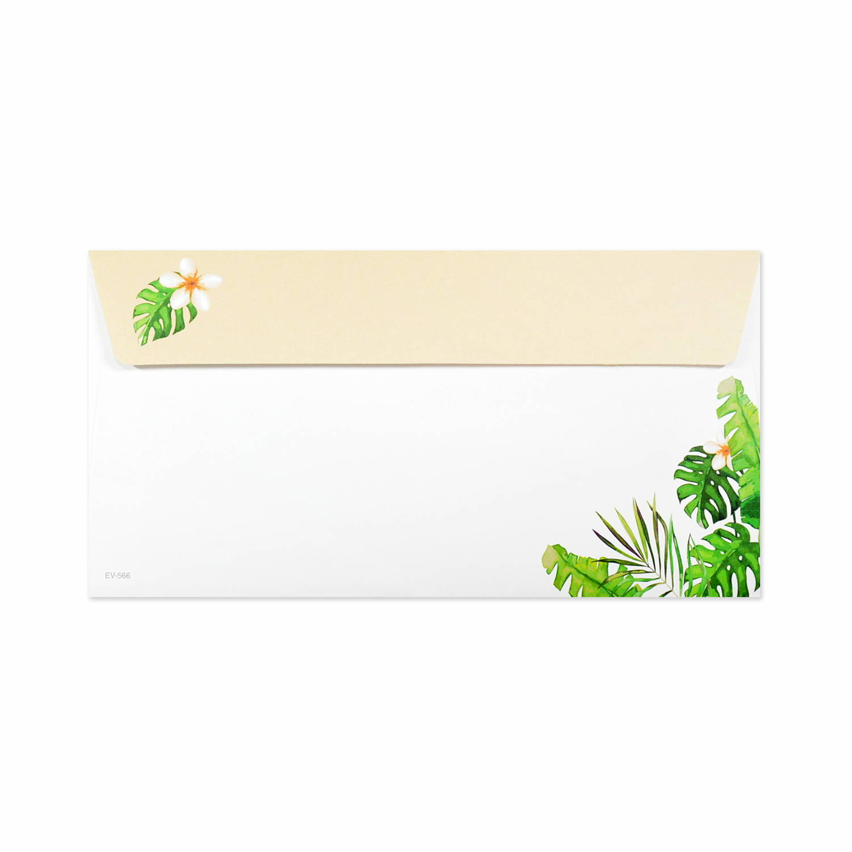 封筒 Aloha モンステラ|ev-566