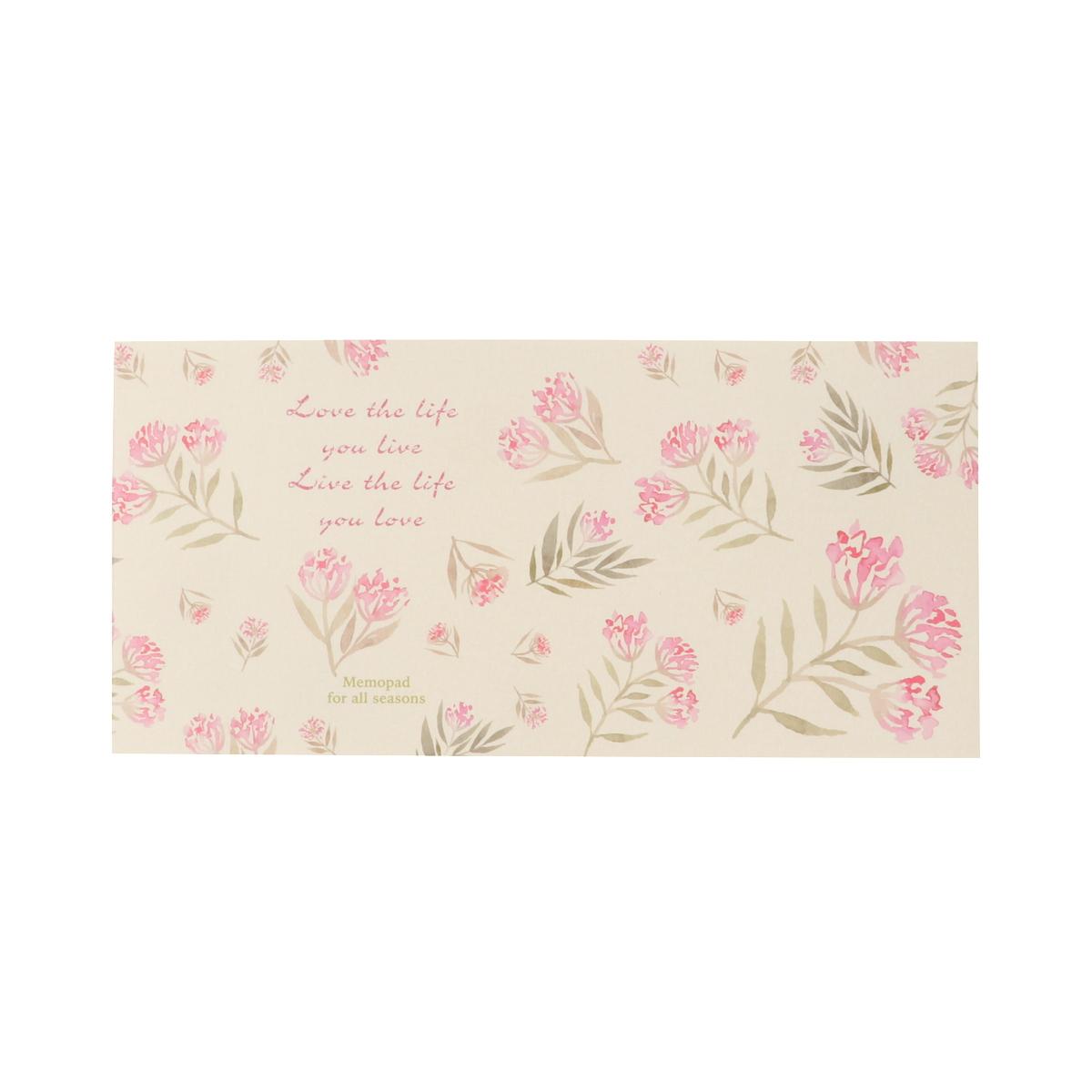 一筆箋 ピンク小花|mp-516
