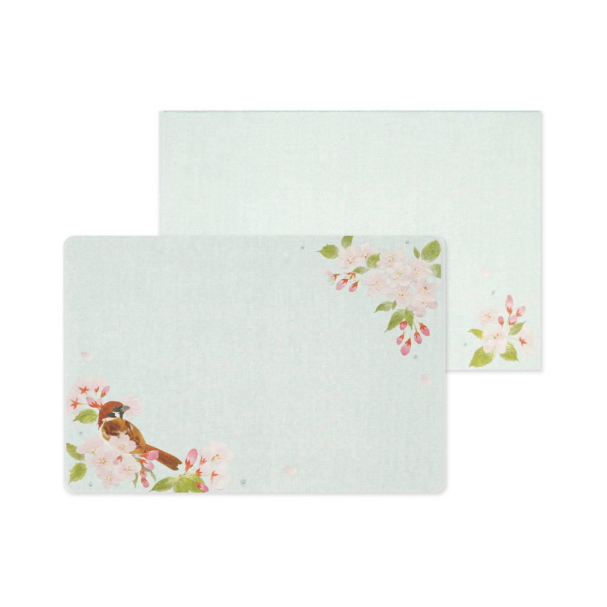 ミニレターセット 桜とすずめ|mls-080