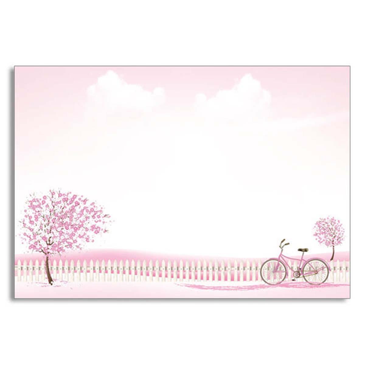 ミニレターセット 桜と自転車|mls-081