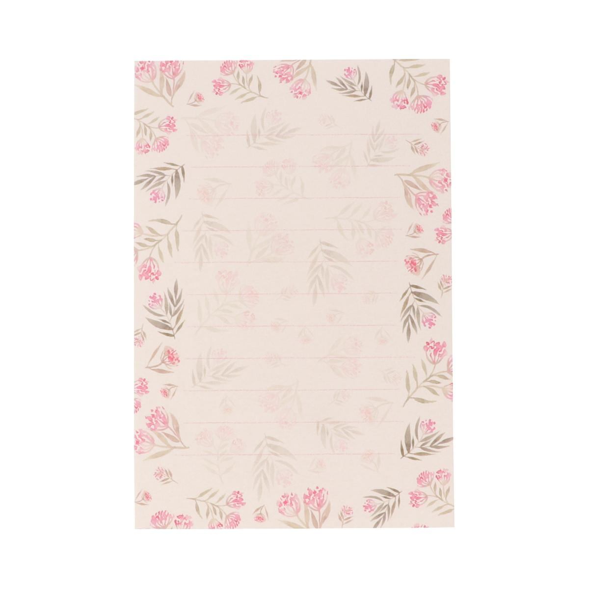 はがき箋 ピンク小花|hgs-412