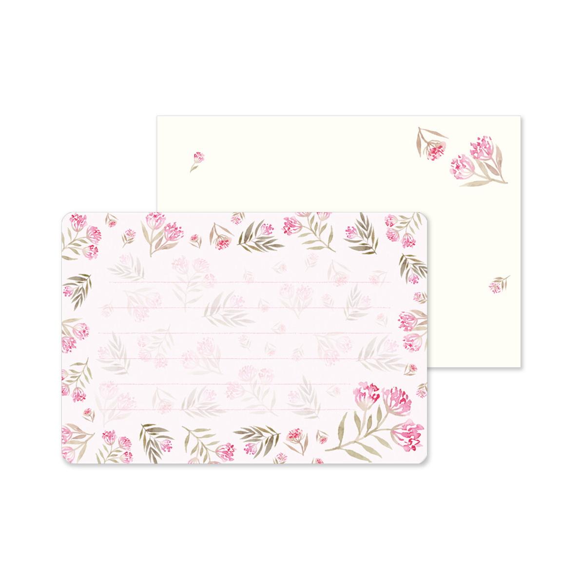 ミニレターセット ピンク小花|mls-129