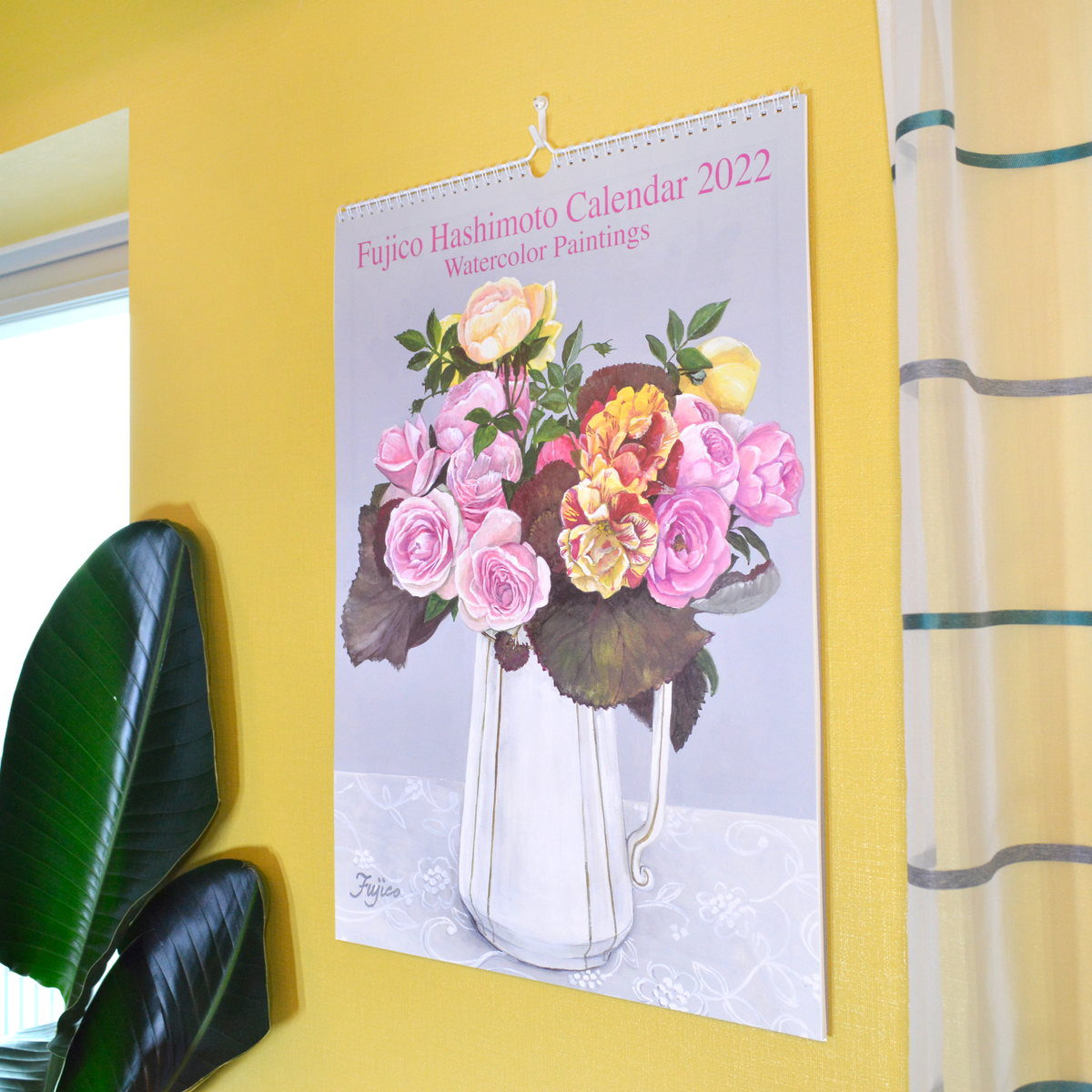 2022年 カレンダー LL 橋本不二子 Rose|cal-049