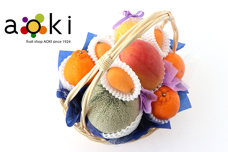 お供え・お悔みフルーツギフトC[メロン マンゴー デコポン キウイフルーツ びわ おすすめ柑橘2種](常温便)