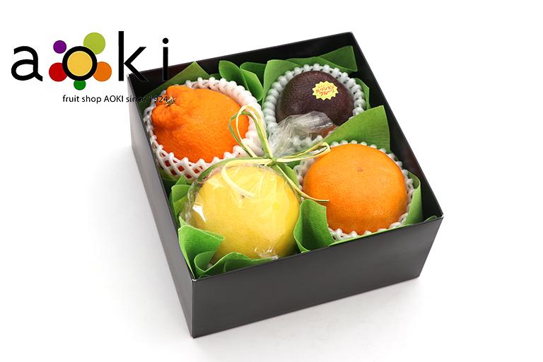 【ご贈答】プチフルーツギフトB[デコポン パッションフルーツ おすすめ柑橘2種]