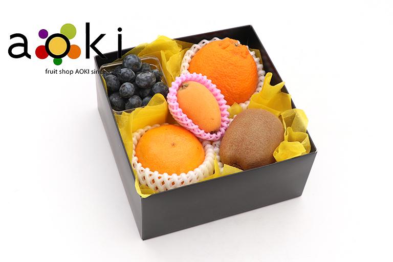 【ご贈答】プチフルーツギフトD[デコポン ブルーベリー キウイフルーツ びわ おすすめ柑橘]