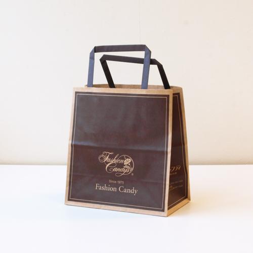 手提げ紙袋(茶・小)高さ190�×横180�×横幅90�