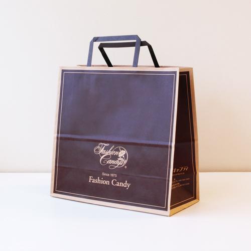 手提げ紙袋(茶・中)高さ250�×横260�×横幅118�