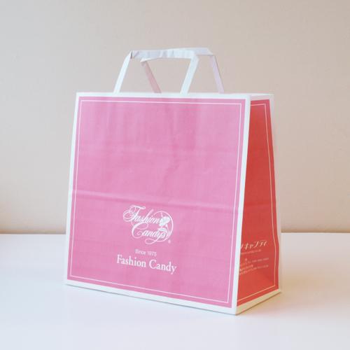 手提げ紙袋(ピンク・中)高さ250�×横260�×横幅118�