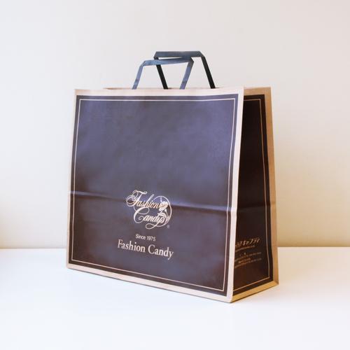 手提げ紙袋(茶・大)高さ350�×横320�×横幅138�