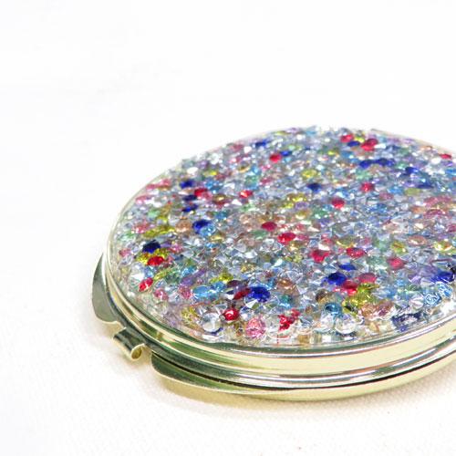 -Bijoux Compact mirror-カラフルビジュー【アレオリ】