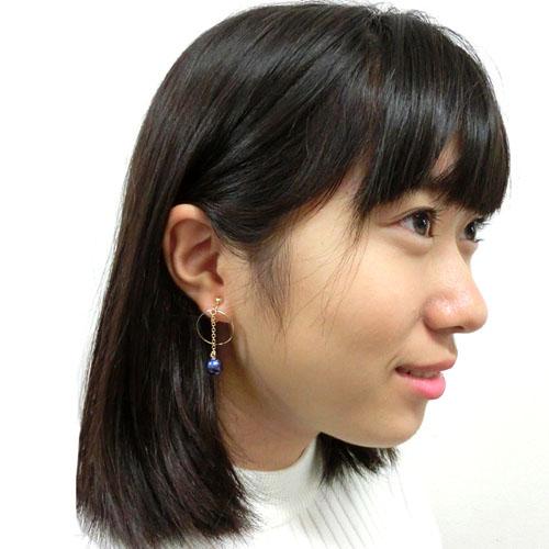"""★70%OFF★【ルココネ】""""プラネット""""アシンメトリーイヤリング"""