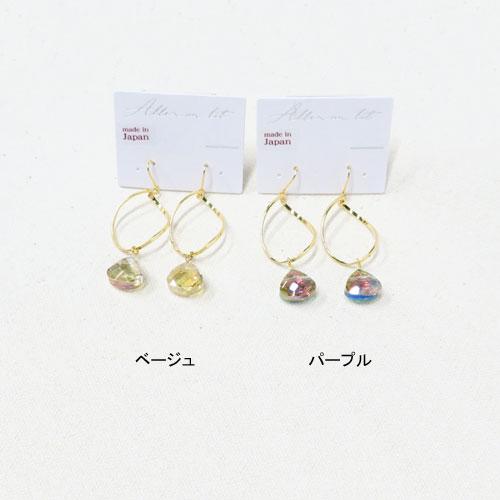 Jewel color-ジュエルカラー-フックピアス・マロンカット【アレオリ】