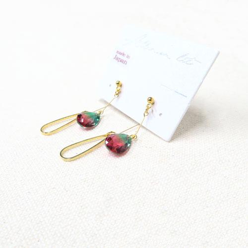 Jewel color-ジュエルカラー-フロントバックピアス・ダブルドロップ【アレオリ】
