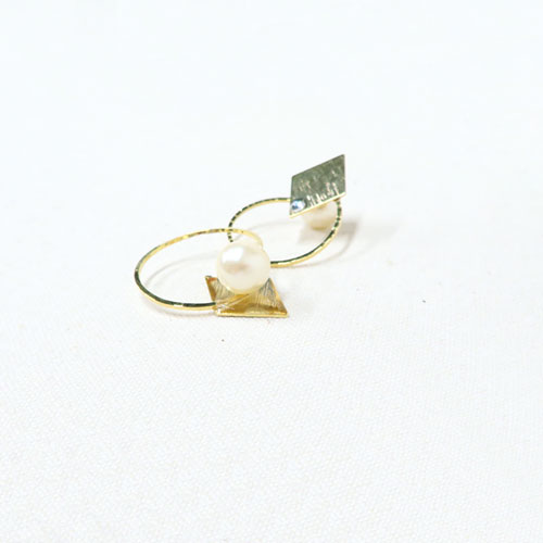 Air cuff -エアカフ-サークル・パール&テクスチャー A【アレオリ】
