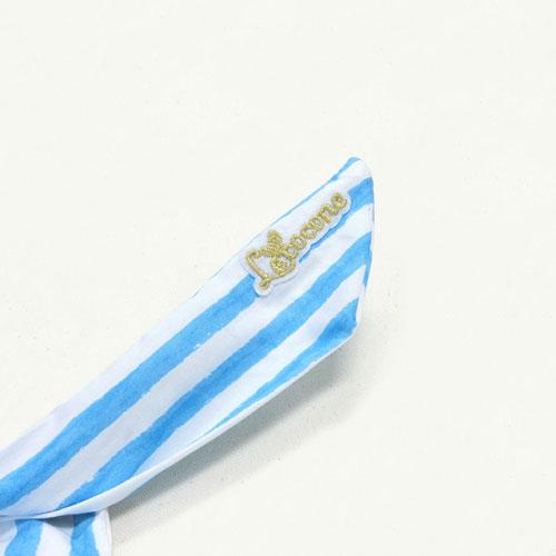 """★70%OFF★""""リゾートカラー""""リボンワイヤーターバン-マリンボーダー-【ルココネ】"""