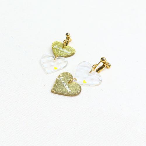 ドット×フルーツシリーズ-ハートイヤリング-【ルココネ】