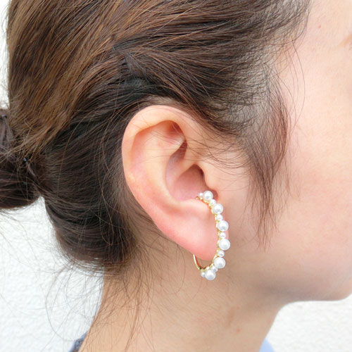 ear cuff -イヤカフ-パールライン【アレオリ】