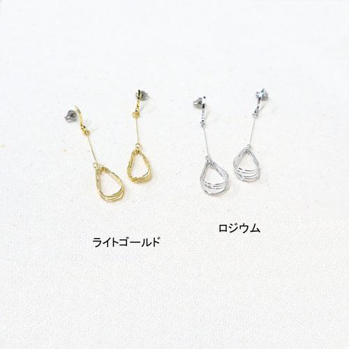 """""""Flowing line""""多連メタルワイヤーピアス-ドロップ-【アレオリ】"""
