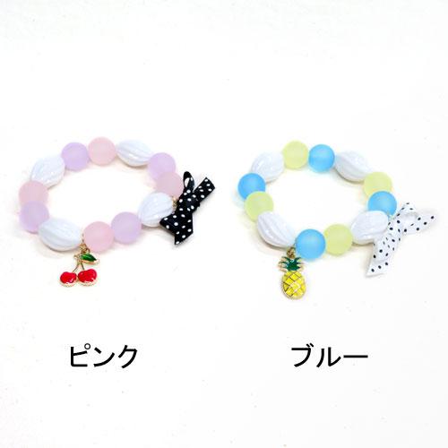 ドット×フルーツシリーズ-ホイップフルーツブレスレット-【ルココネ】