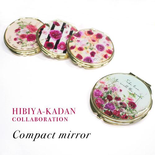 -Compact mirror-HIBIYA-KADAN×Roses【アレオリ】