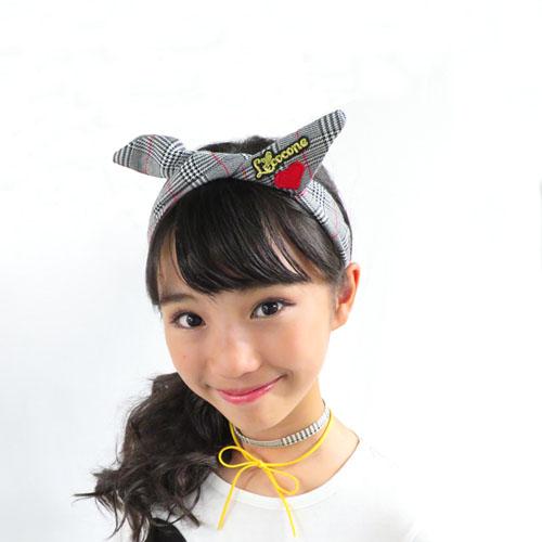 """""""チェックシリーズ""""ワイヤーターバン-グレンチェック×ワッペン-【ルココネ】"""