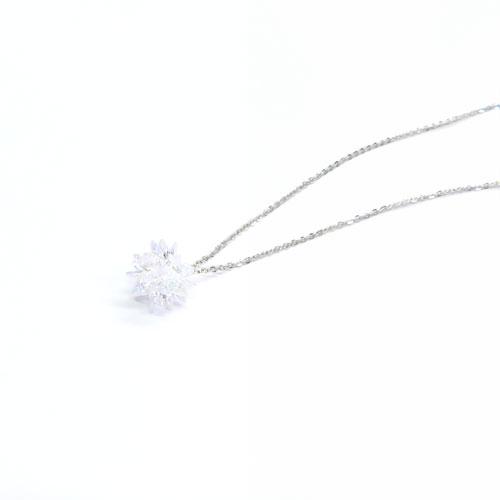 Cristal Pebble-クリスタルぺブル-フラワーネックレス【アレオリ】