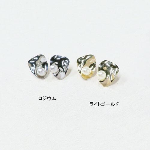メタル×パールシリーズクリアカフス-変形トライアングル-【アレオリ】