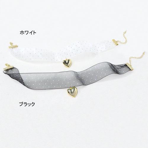 """""""ドットチュール""""シリーズチョーカー-ゴールドハート-【ルココネ】"""