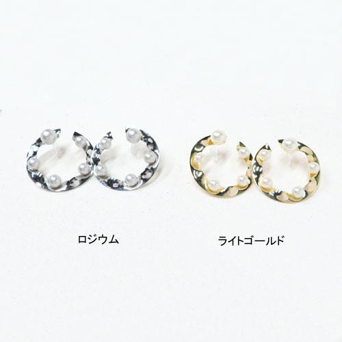 メタル×パールシリーズクリアカフス-ラウンド-【アレオリ】