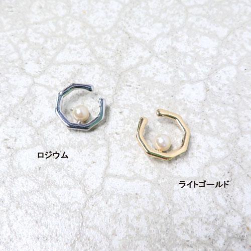 ear cuff -イヤカフ-カットフープ・ポイントパール【アレオリ】