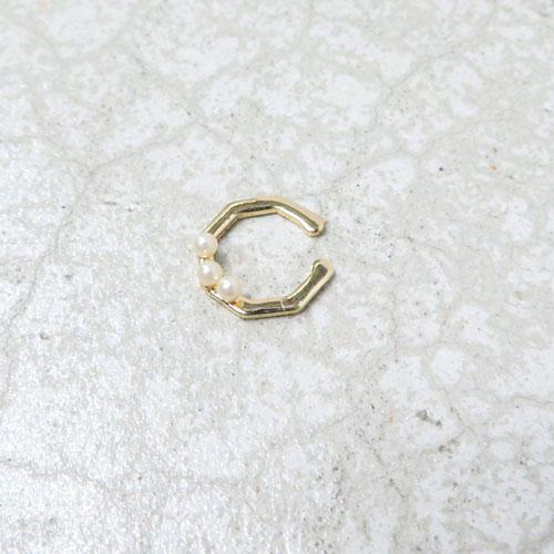 ear cuff -イヤカフ-カットフープ・パールライン【アレオリ】